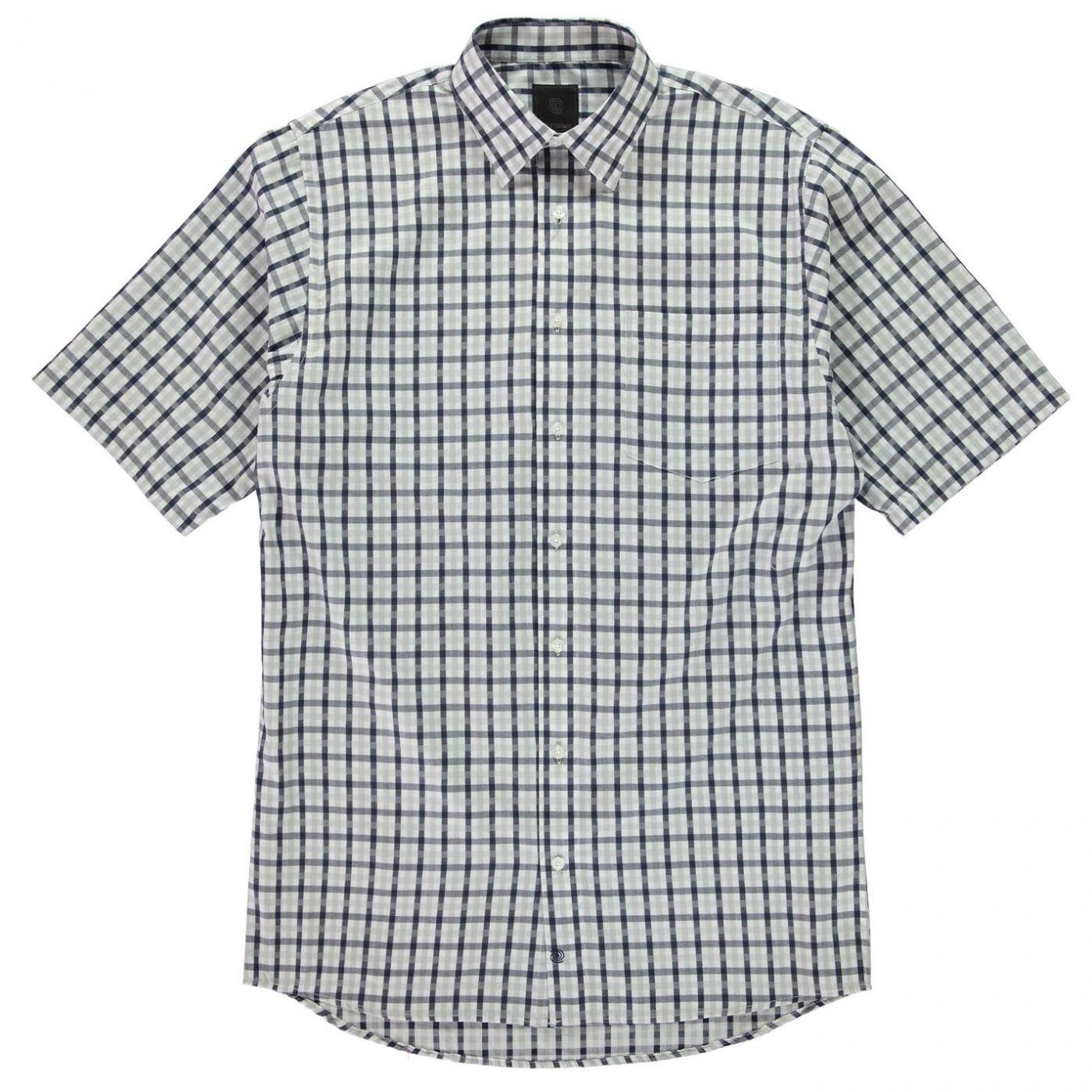 Fusion Checked Short Sleeve Shirt Mens