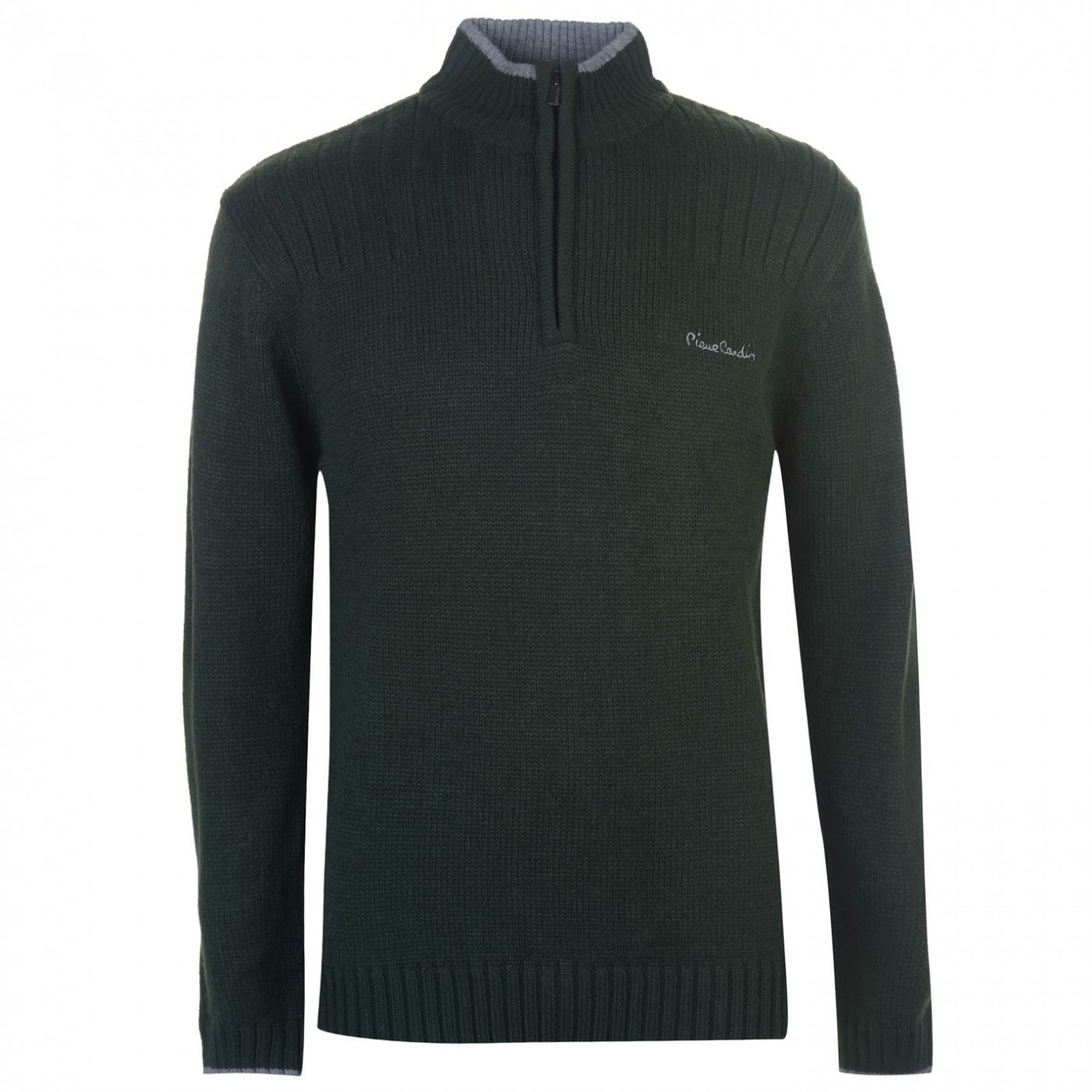 Pierre Cardin Quarter Zip Plain Knit Mens