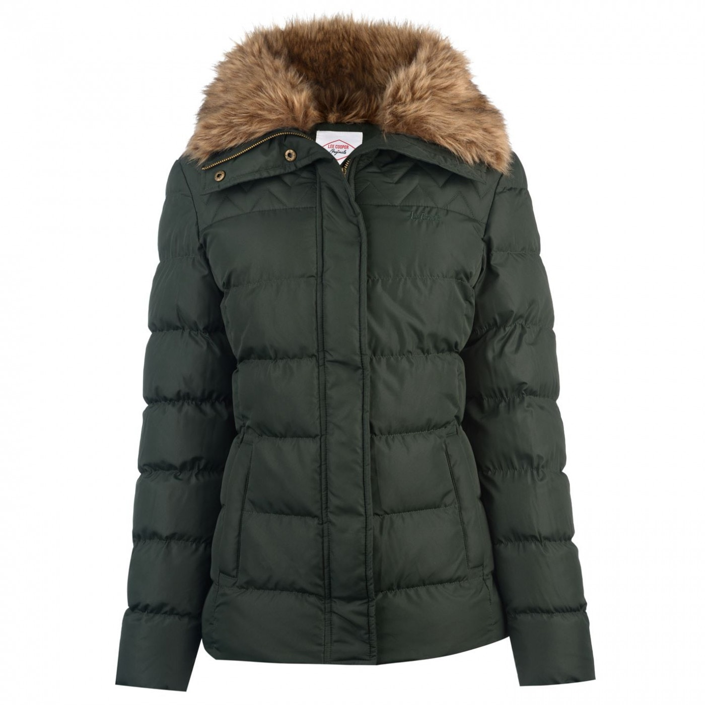 Lee Cooper Fur Collar Jacket Ladies