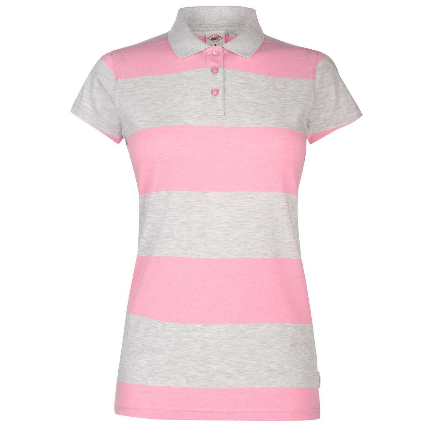 Lee Cooper Block Stripe Polo Shirt Ladies