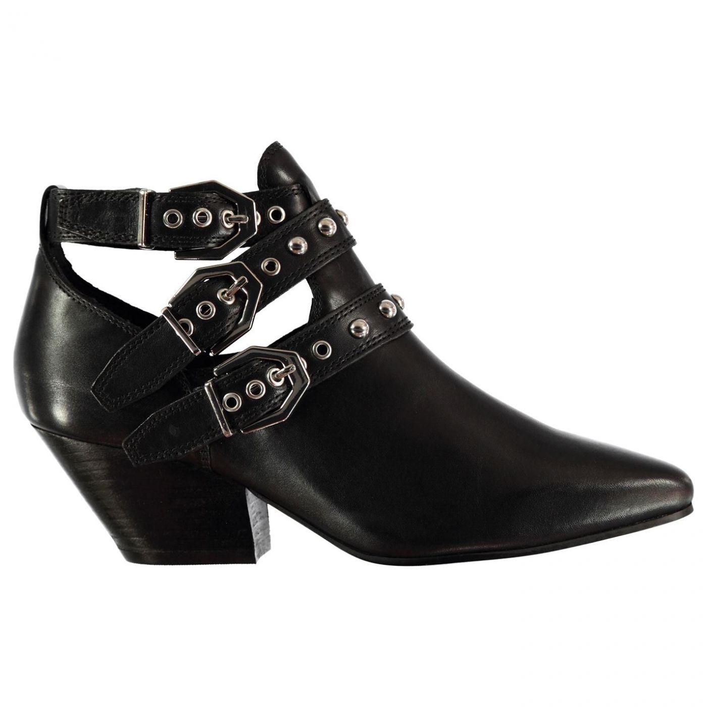 Bronx Buckle Heel Boots Ladies