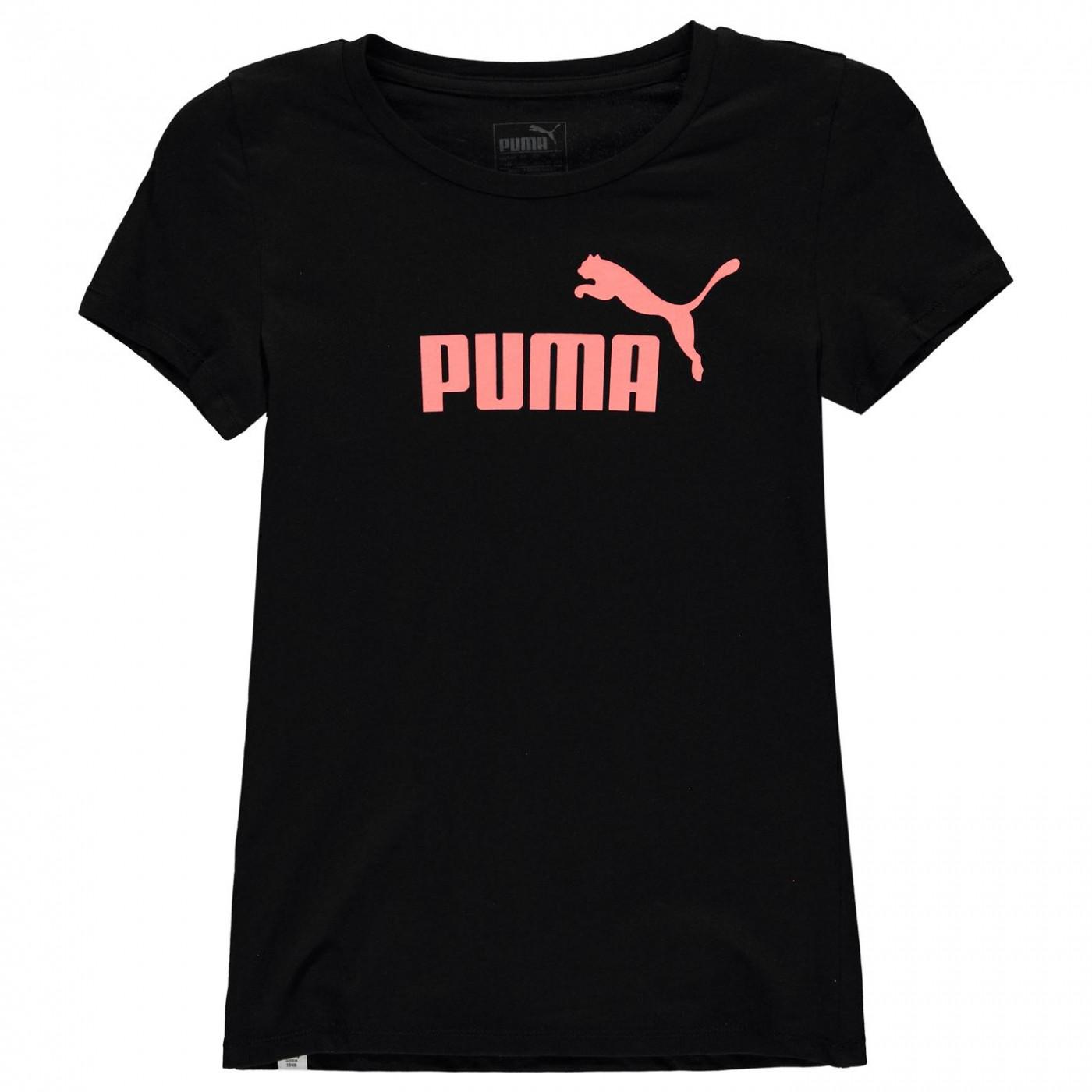 Triko Puma Logo Print T Shirt detské Girls