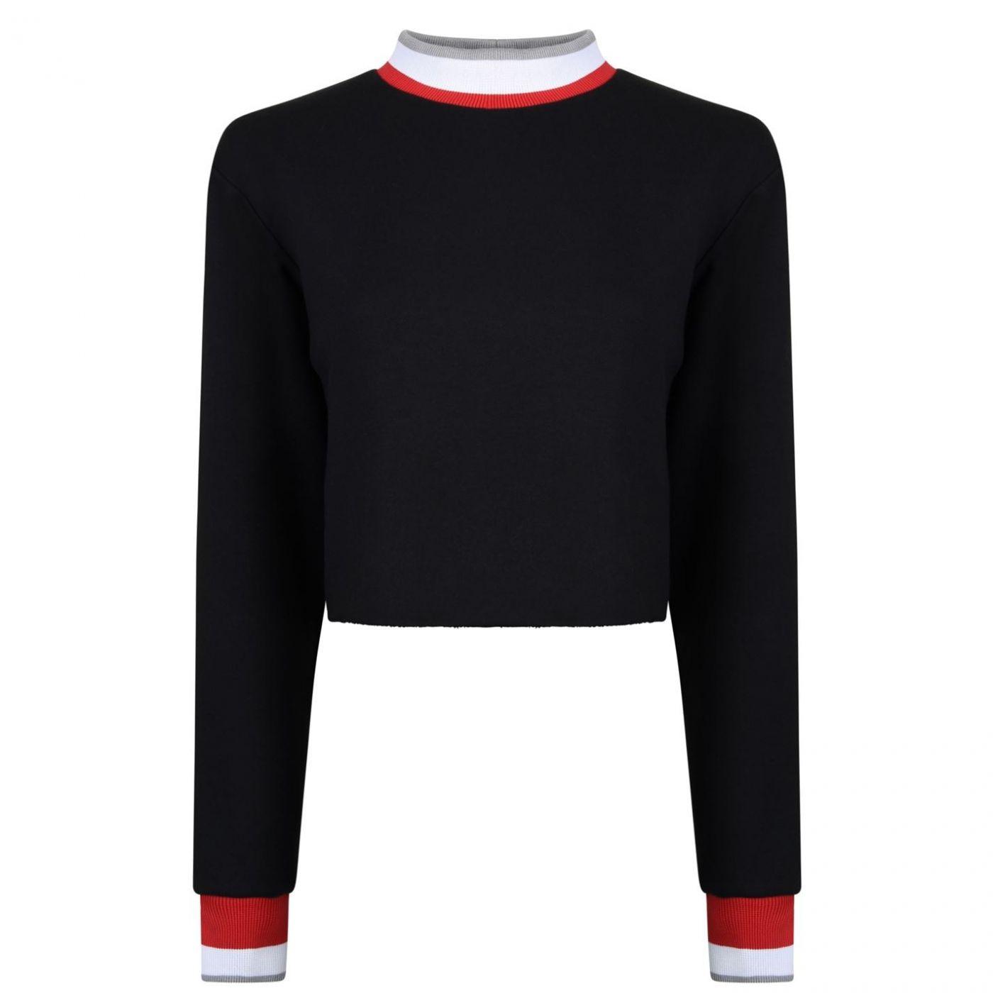 TWENTY Raw Cropped Sweatshirt