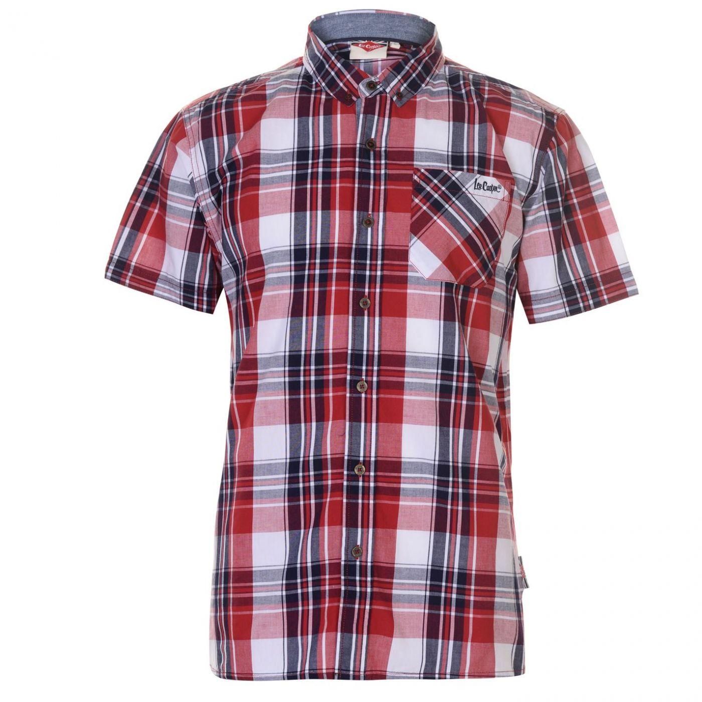 d3f7496d27701 pánská košile Lee Cooper Short Sleeve Check - FACTCOOL