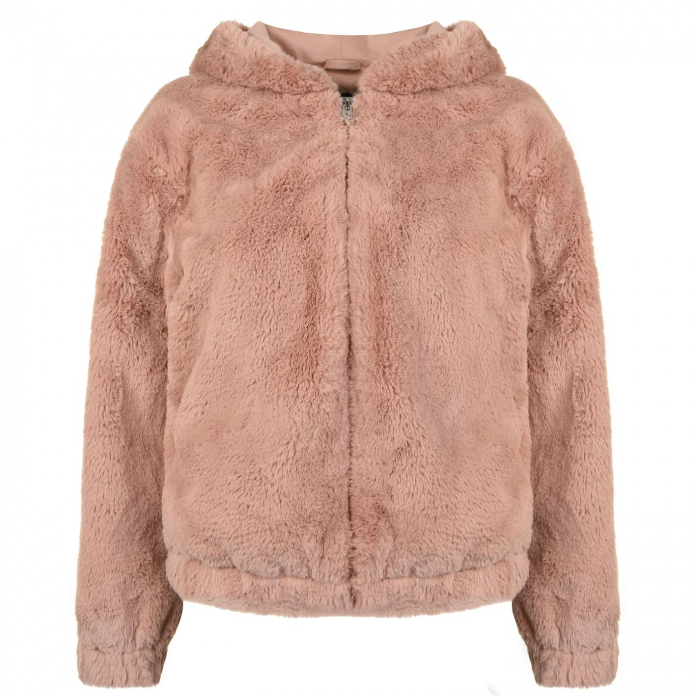 French Connection Faux Fur Hooded Jacket