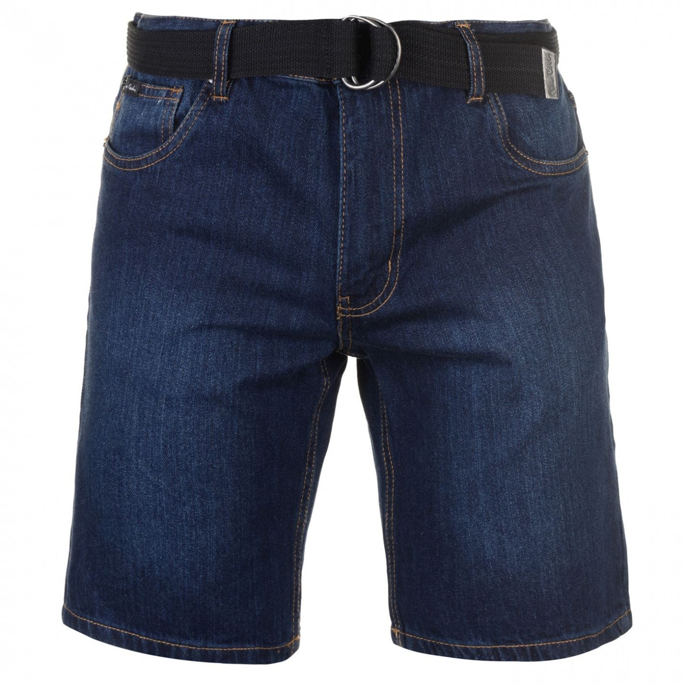 Pierre Cardin Denim Web Belt Shorts Mens