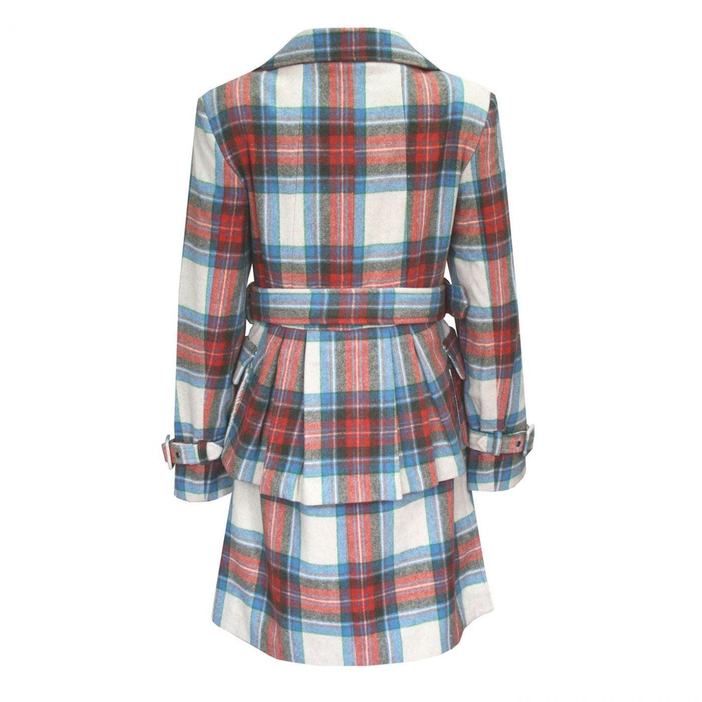 Női Kabát Lee Cooper Check Wool