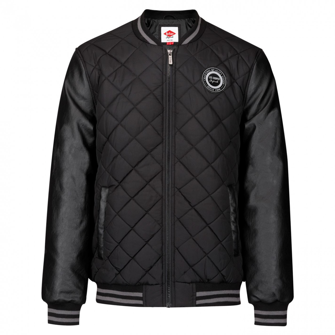 Lee Cooper Quilted Bomber Jacket Mens