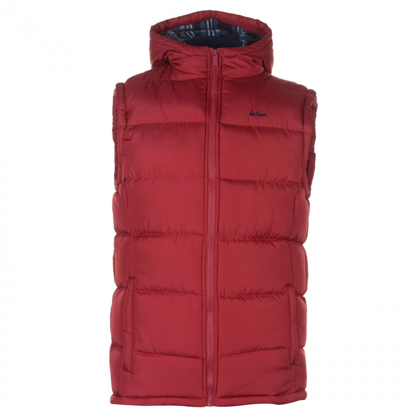 Lee Cooper 2 Zip Gilet Mens