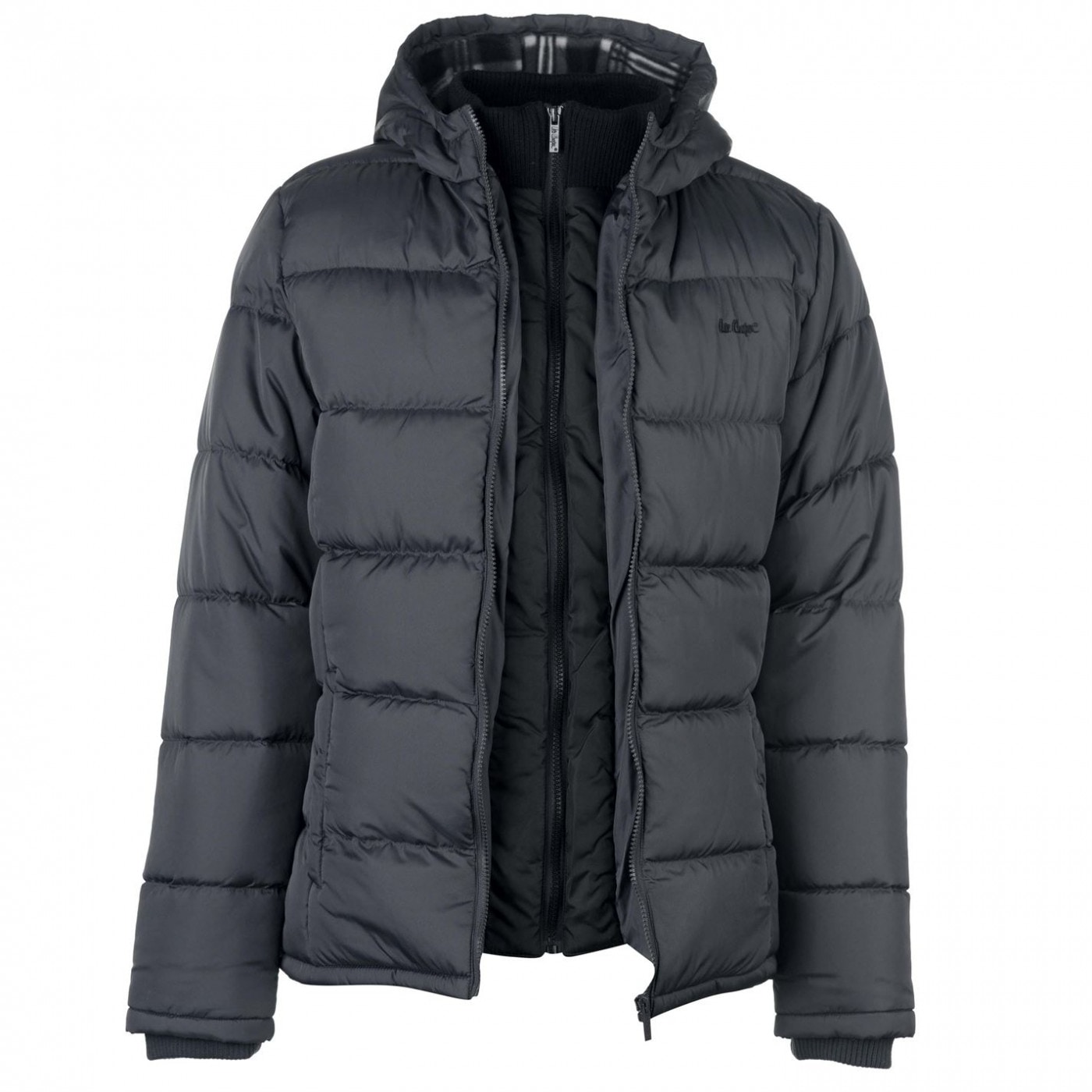 9fa9dfaf04699 Lee Cooper Two Zip Padded Jacket Mens - FACTCOOL