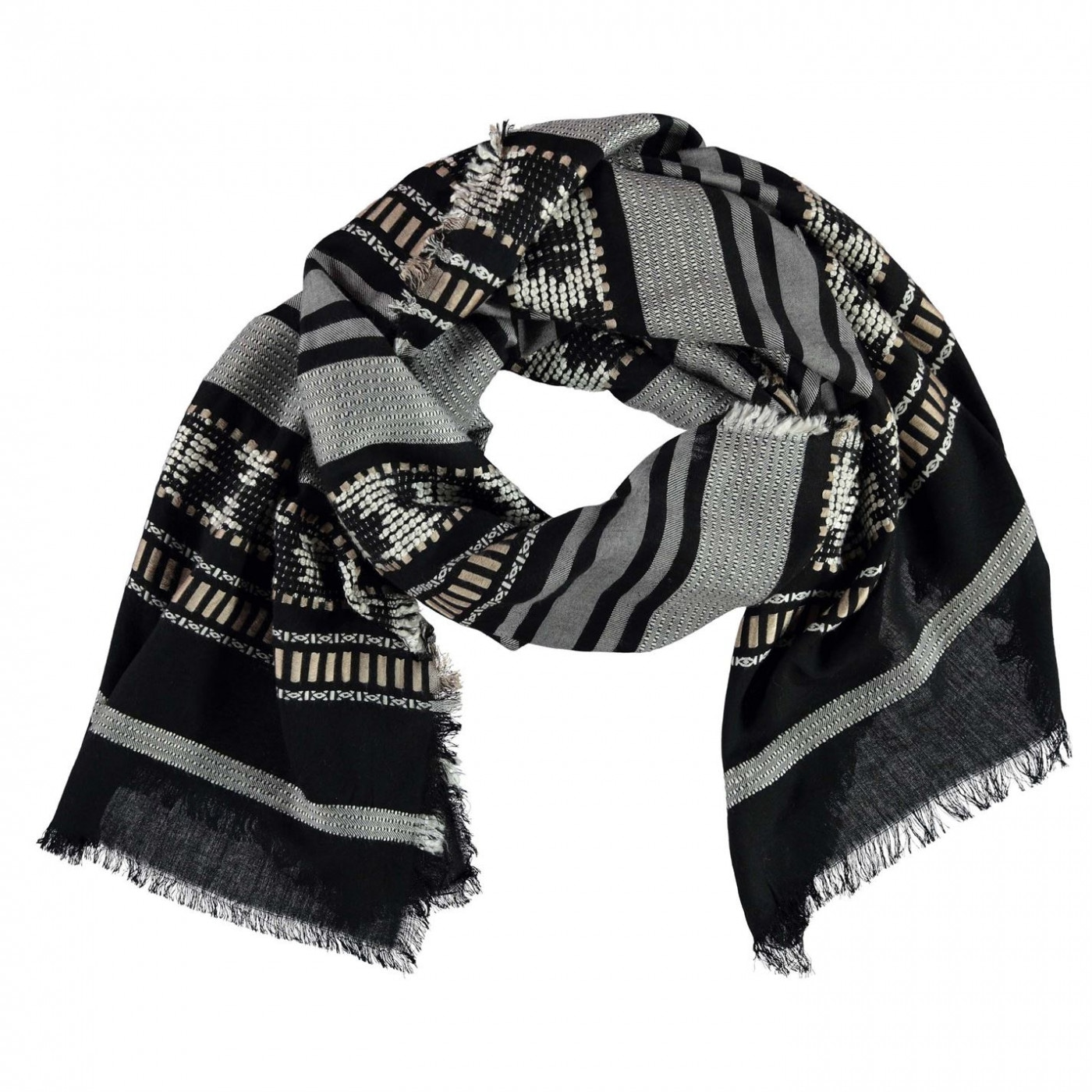 Full Circle Jacquard Scarf Ladies