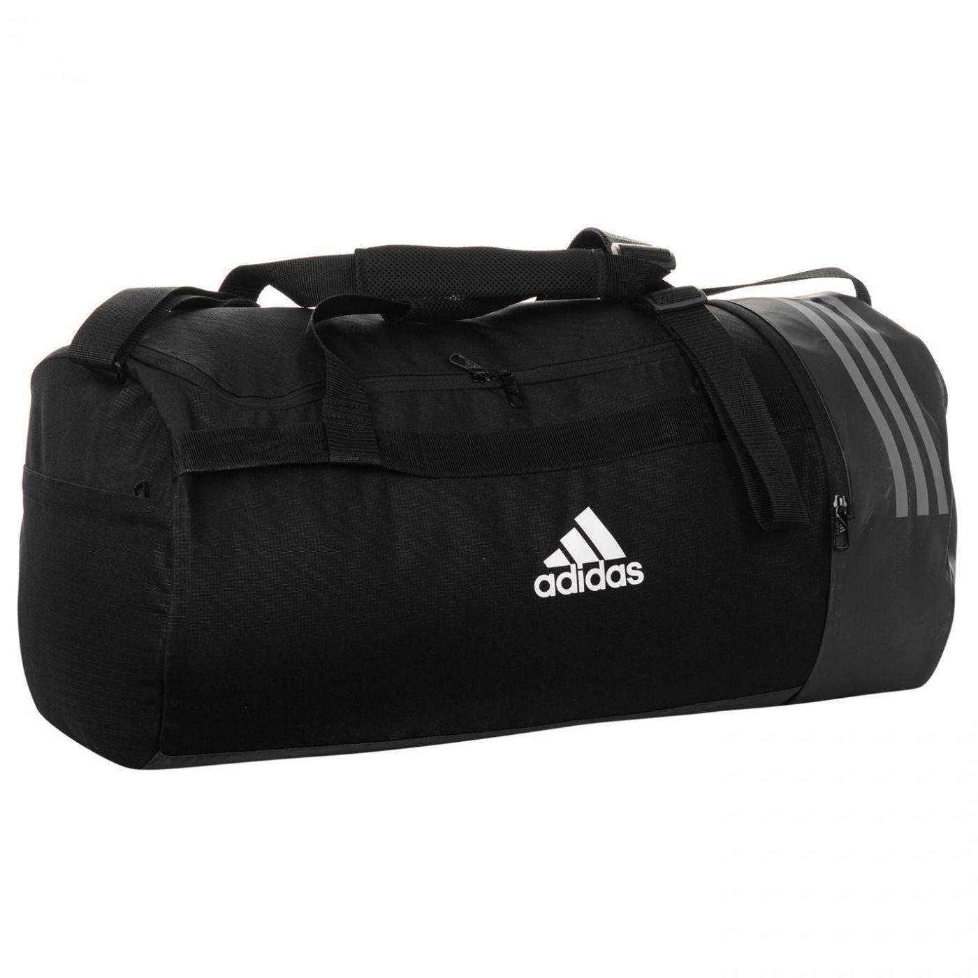 0992359140c28 Adidas Convertible 3 Stripe Duffel Bag - FACTCOOL
