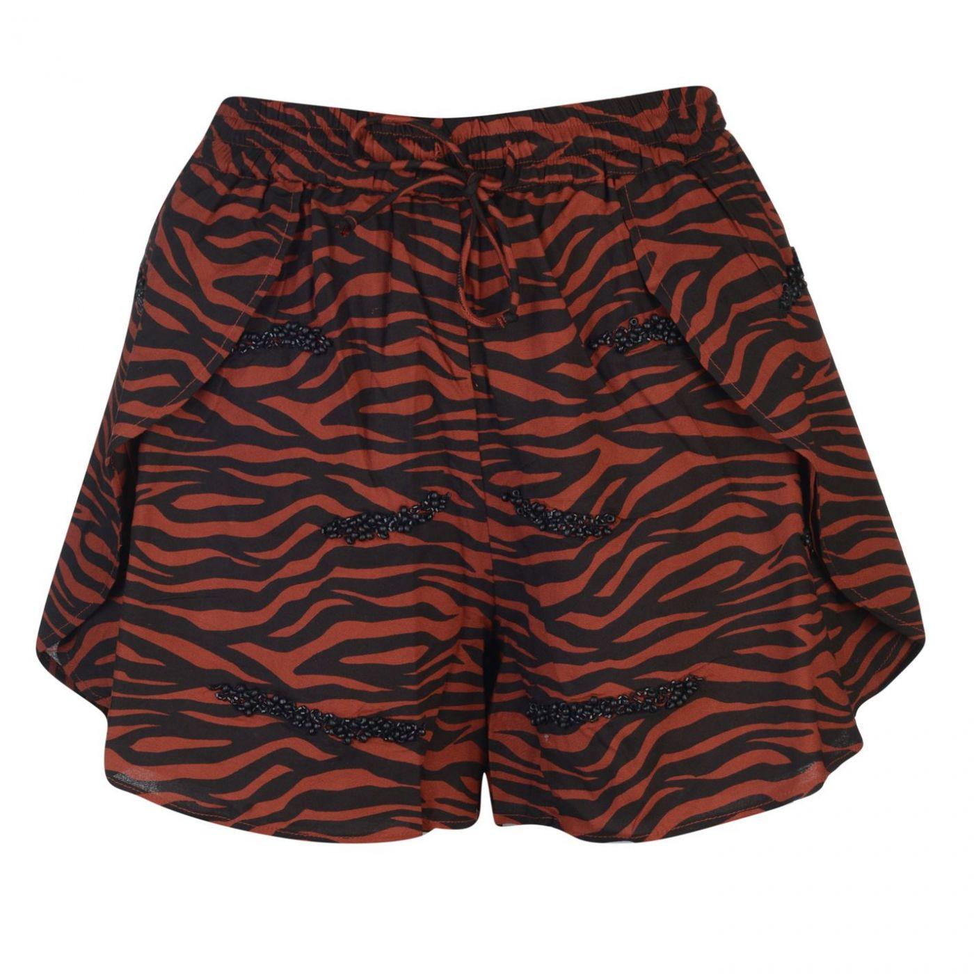 Biba Tiger Beaded Shorts