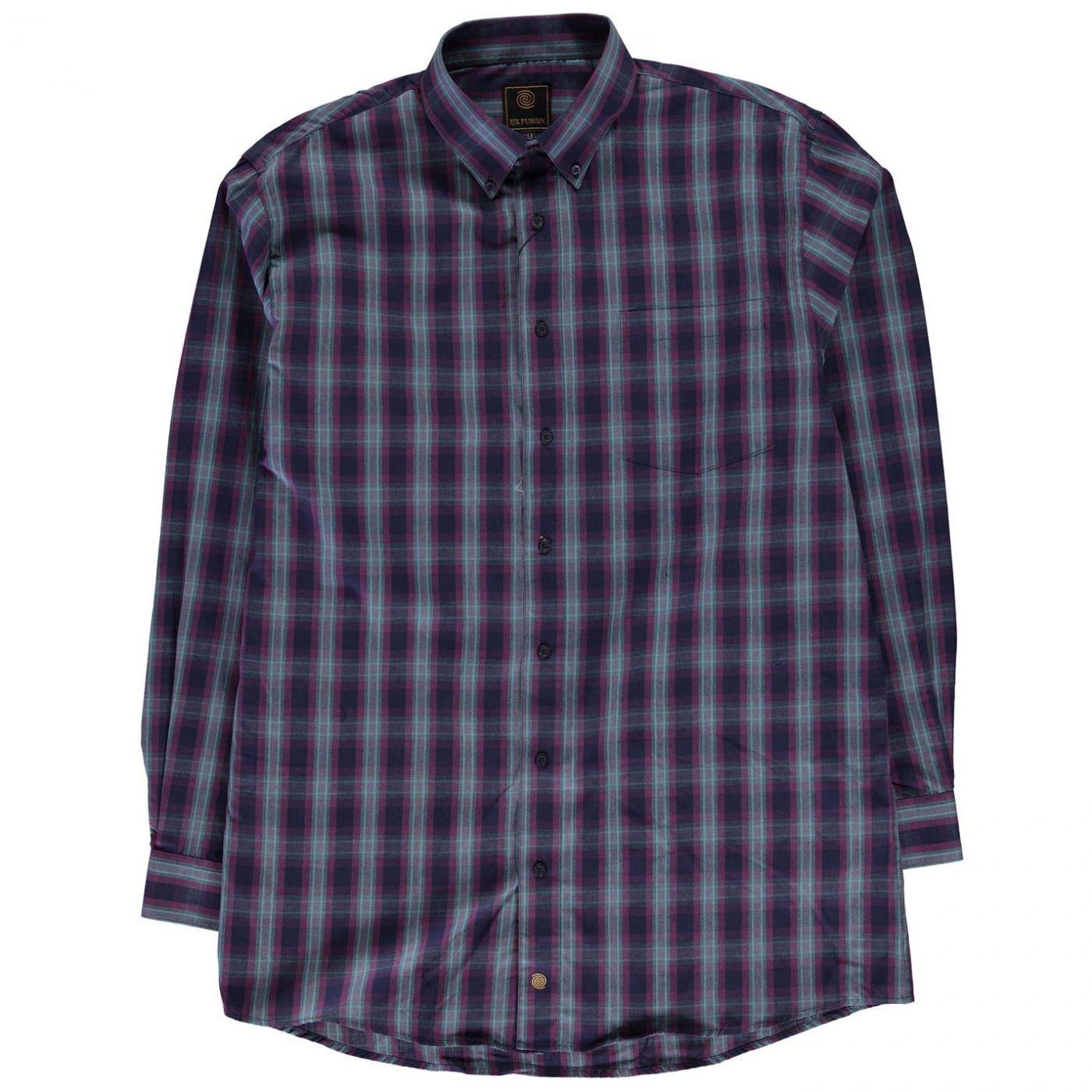 Fusion Plaid Check Shirt Mens