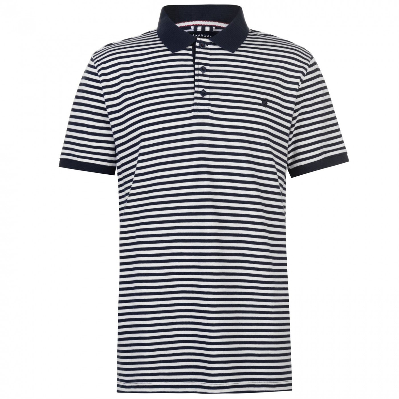 Kangol Pin Stripe Polo Shirt Mens