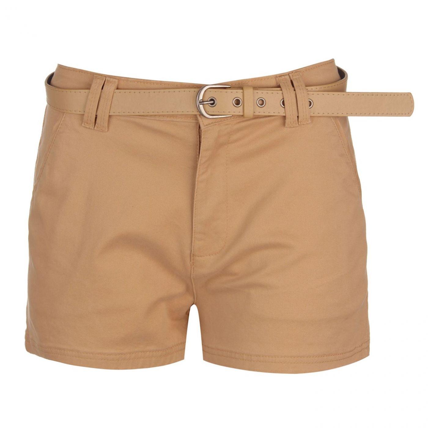 Kangol Belted Chino Shorts Ladies