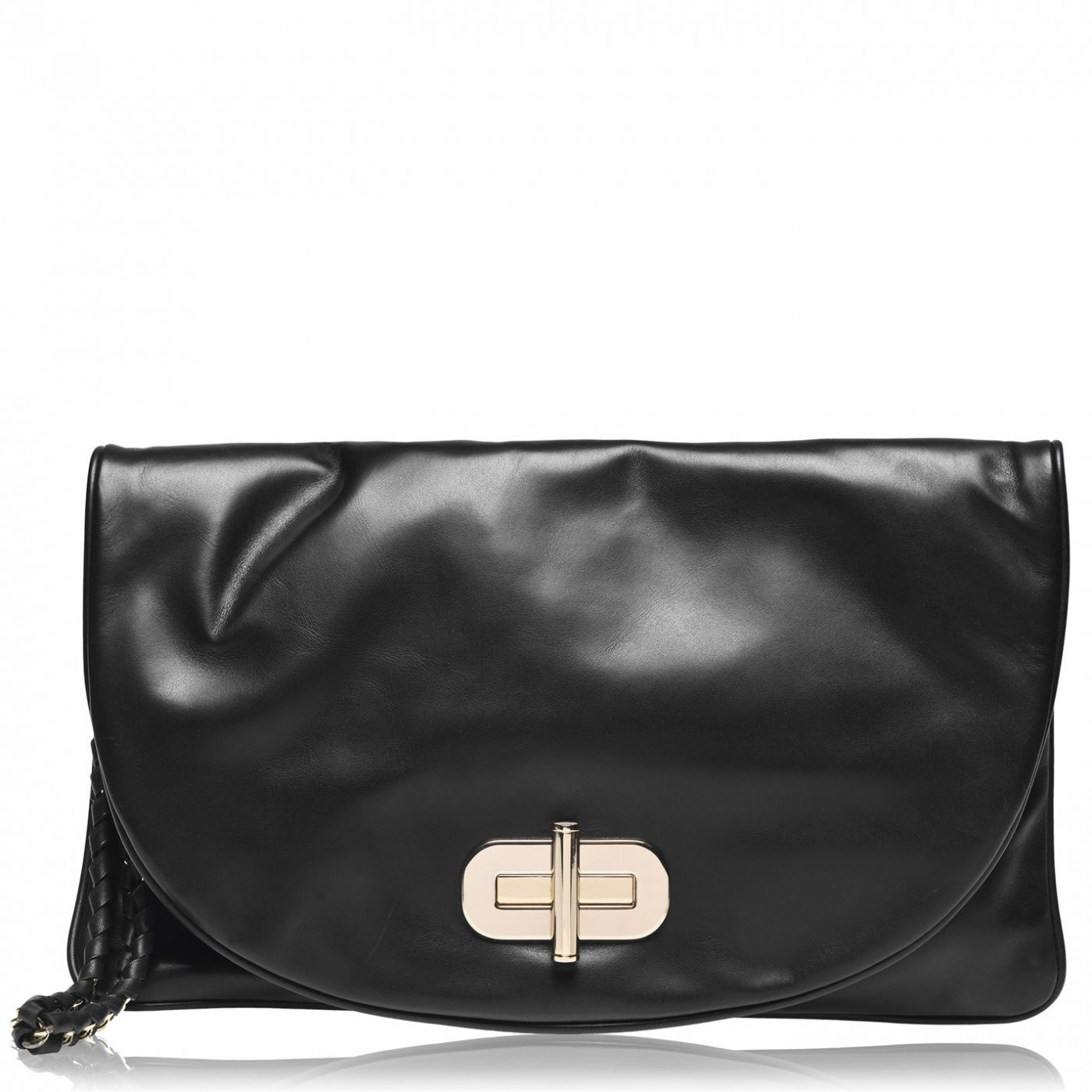 Tommy Hilfiger Soft Leather Turnlock Clutch Bag