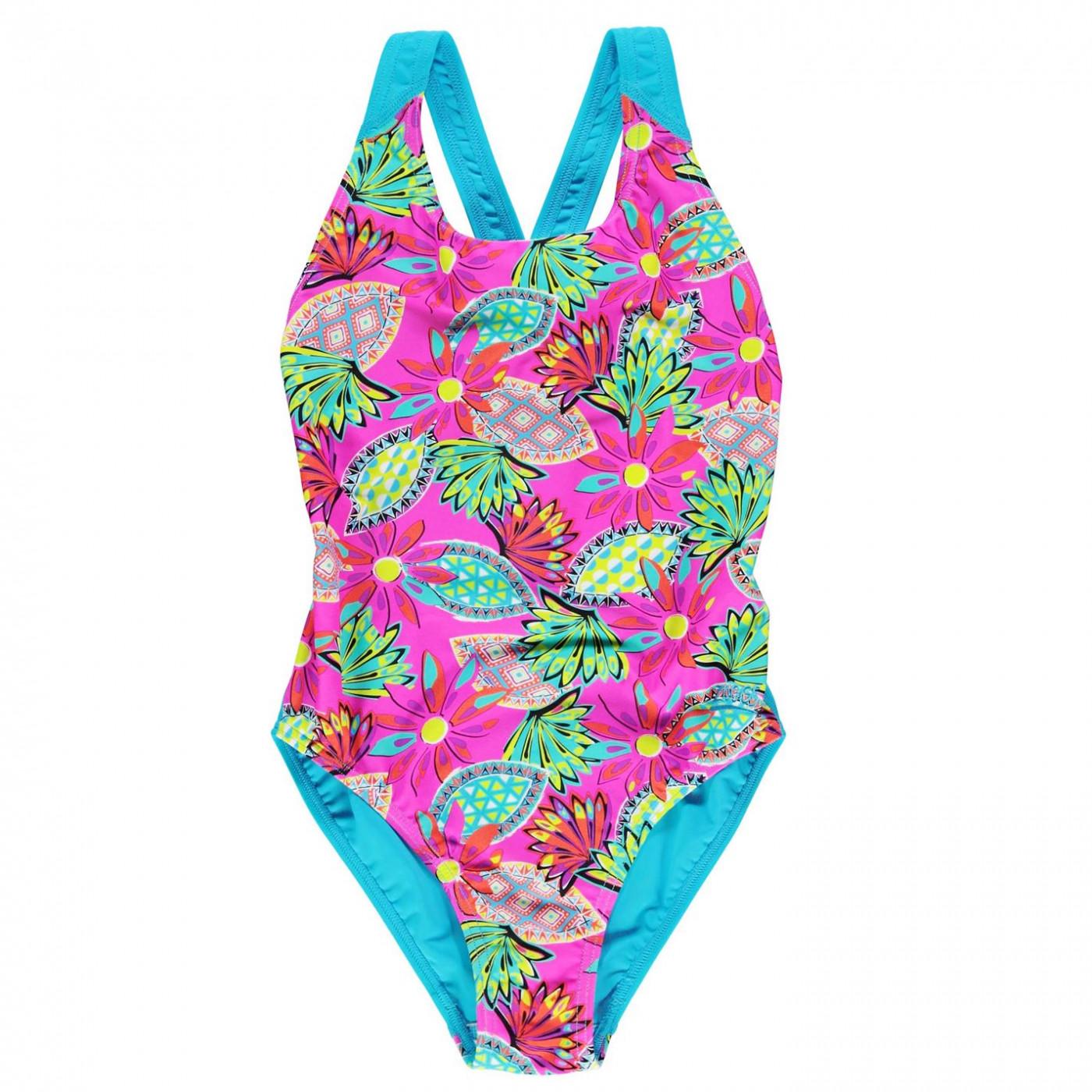 83e78e871 Zoggs Cuban Flyback Swimsuit Junior Girls - FACTCOOL