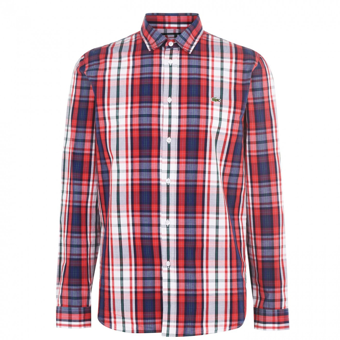 Lacoste Long Sleeves Poplin Checked Shirt