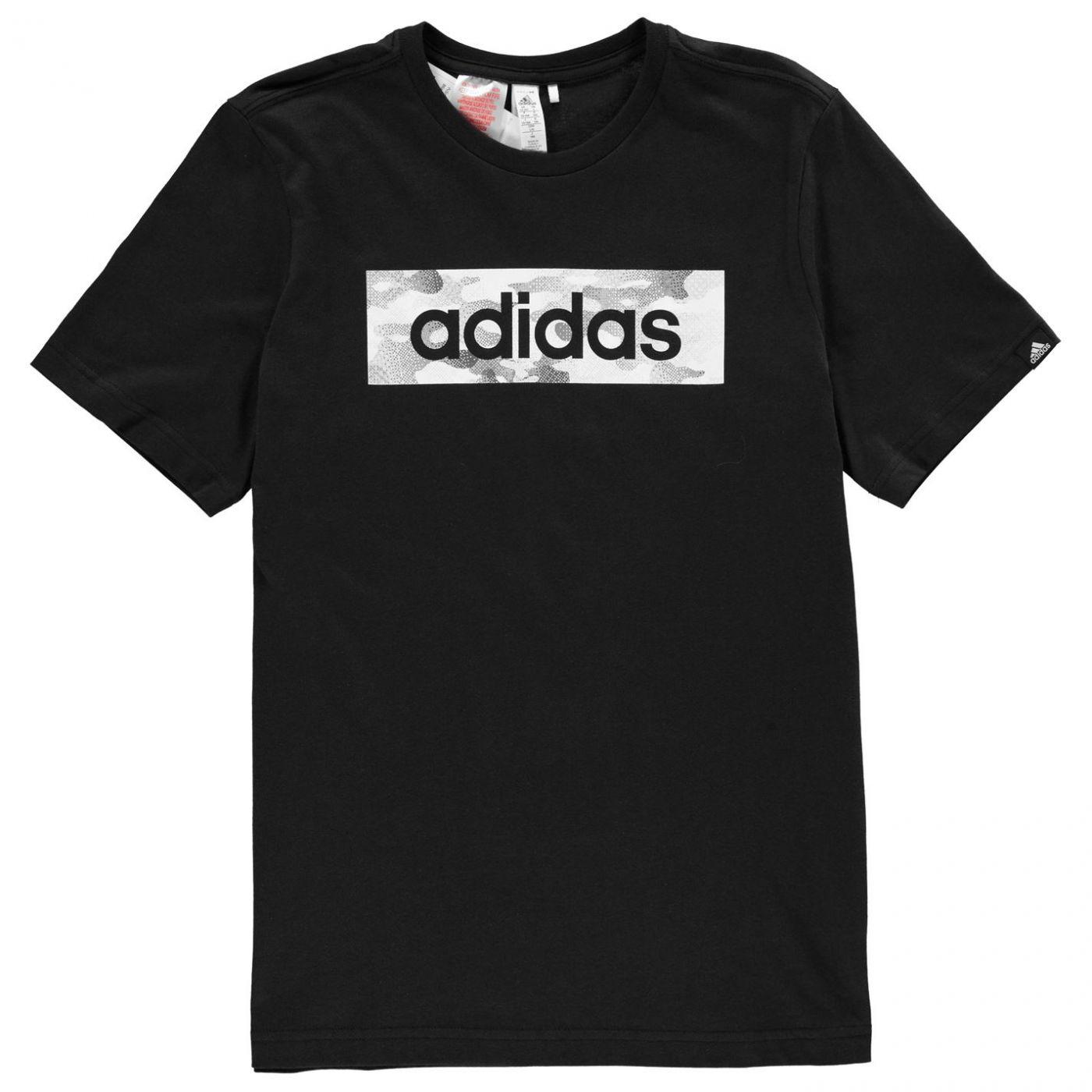 Adidas Camo Linea T Shirt Junior