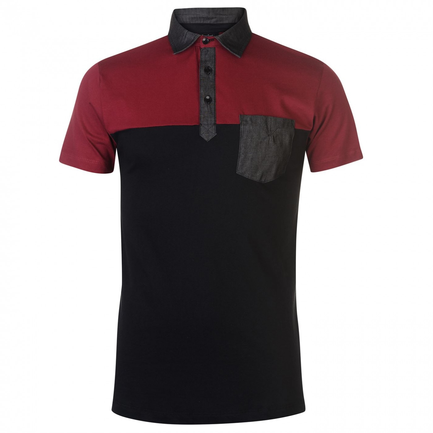 801d775bfc2b Pierre Cardin Colour Block Polo Shirt Mens - FACTCOOL