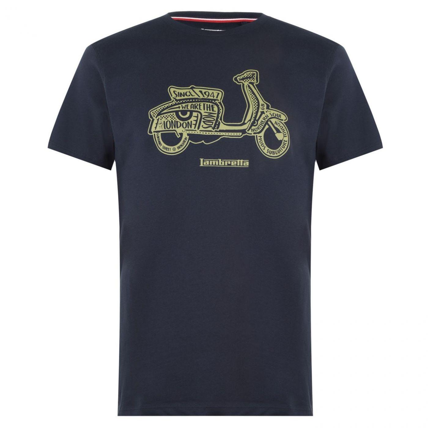 Lambretta Scooter Print T Shirt