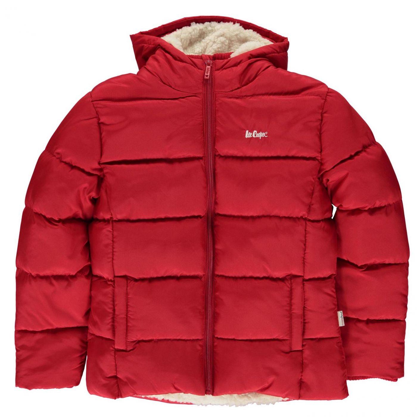 Lee Cooper 2 Zip Bubble Jacket Junior Girls