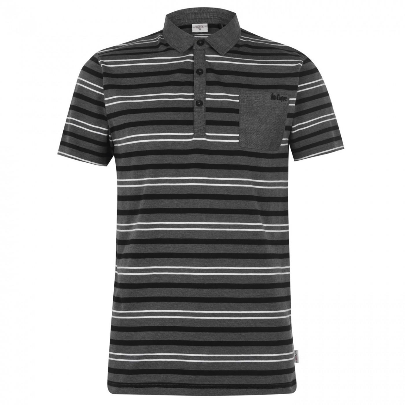 Men's Polo T-shirt Lee Cooper Double Stripe