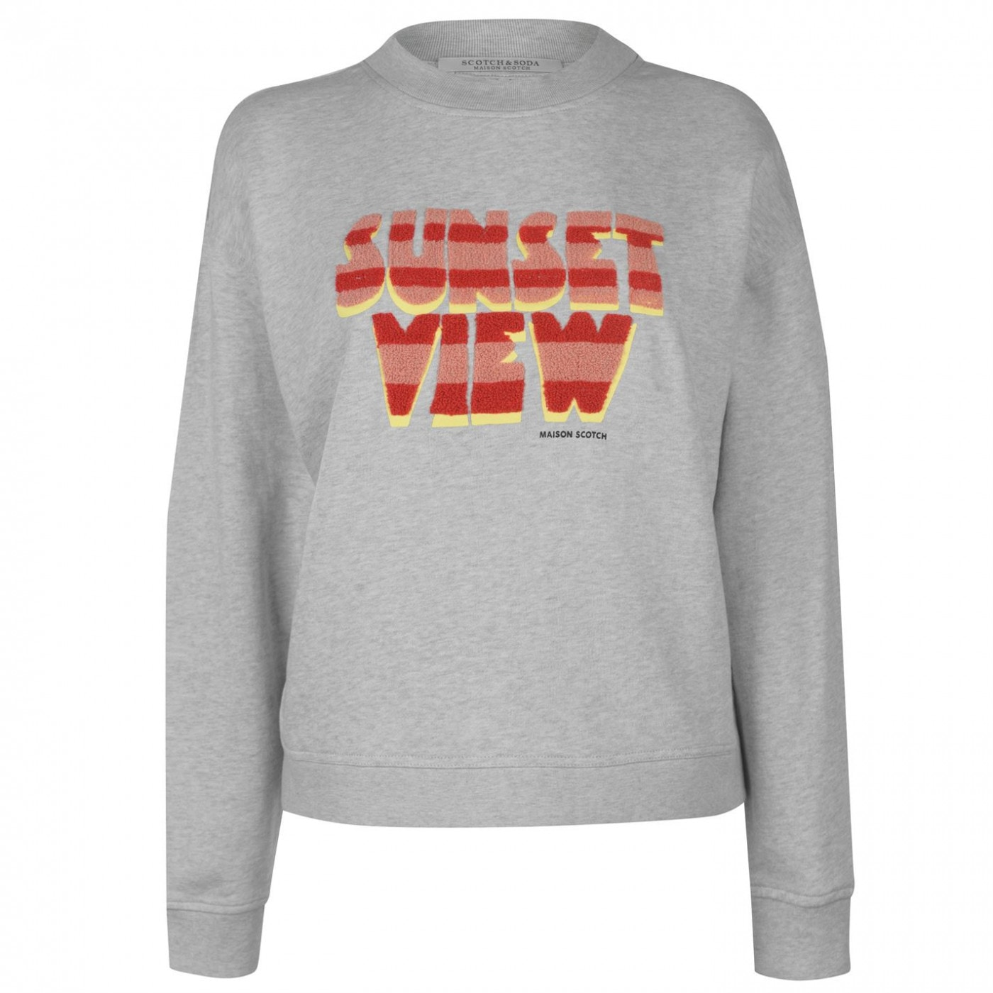 Scotch and Soda and Soda Sunset Crew Sweatshirt Ladies