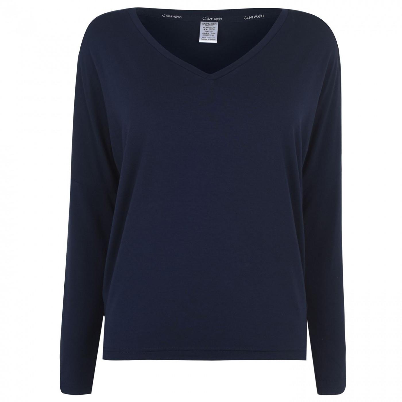 Calvin Klein Calvin Long Sleeve V Neck T Shirt