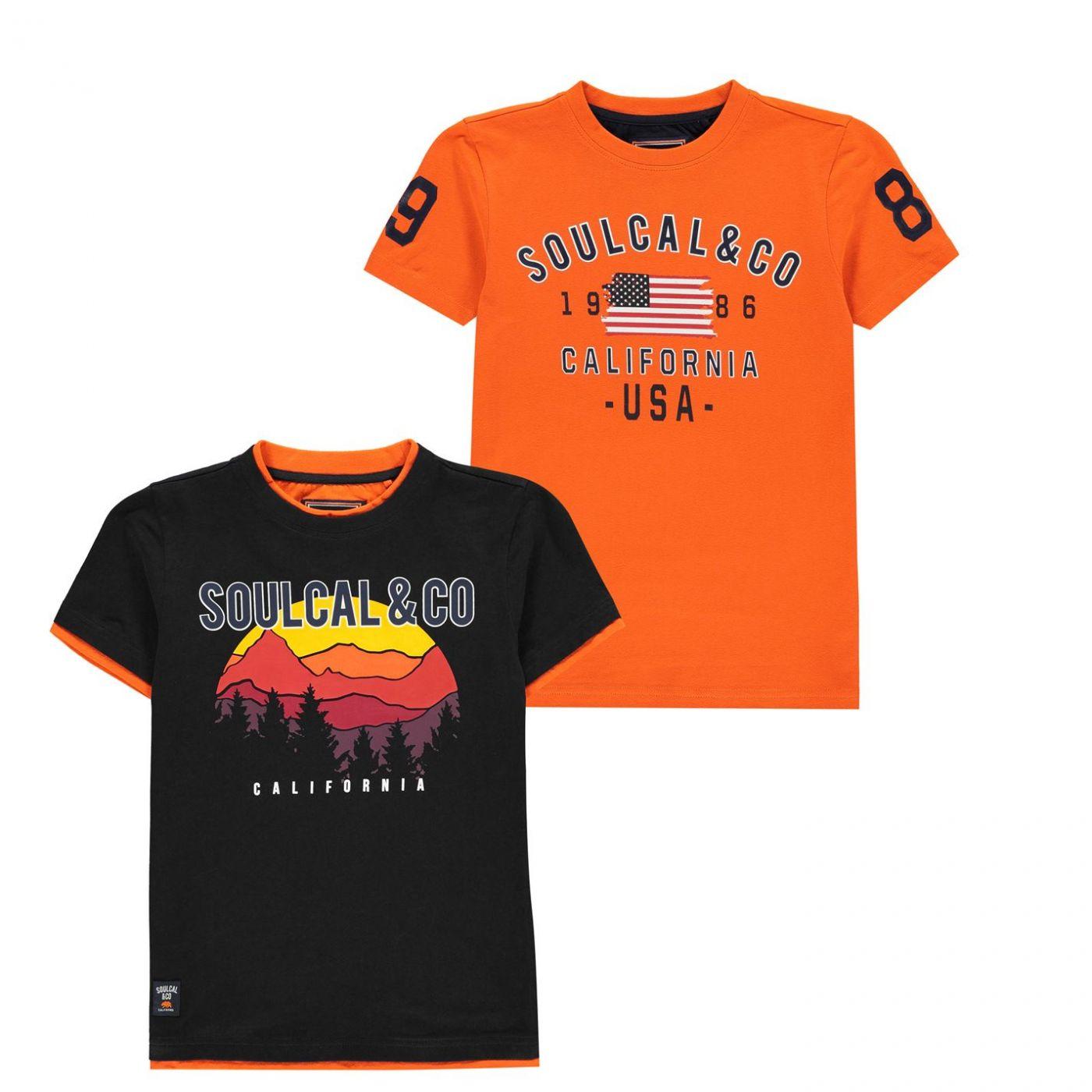 SoulCal 2 Pack USA T Shirts Junior Boys