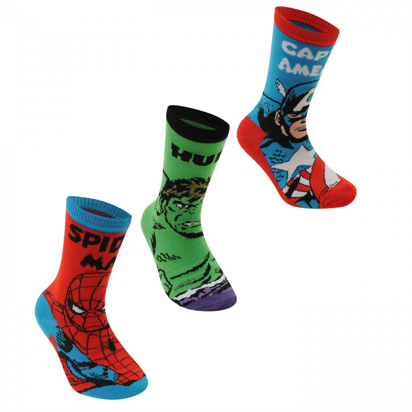 Marvel 3 Pack Crew Socks Childrens