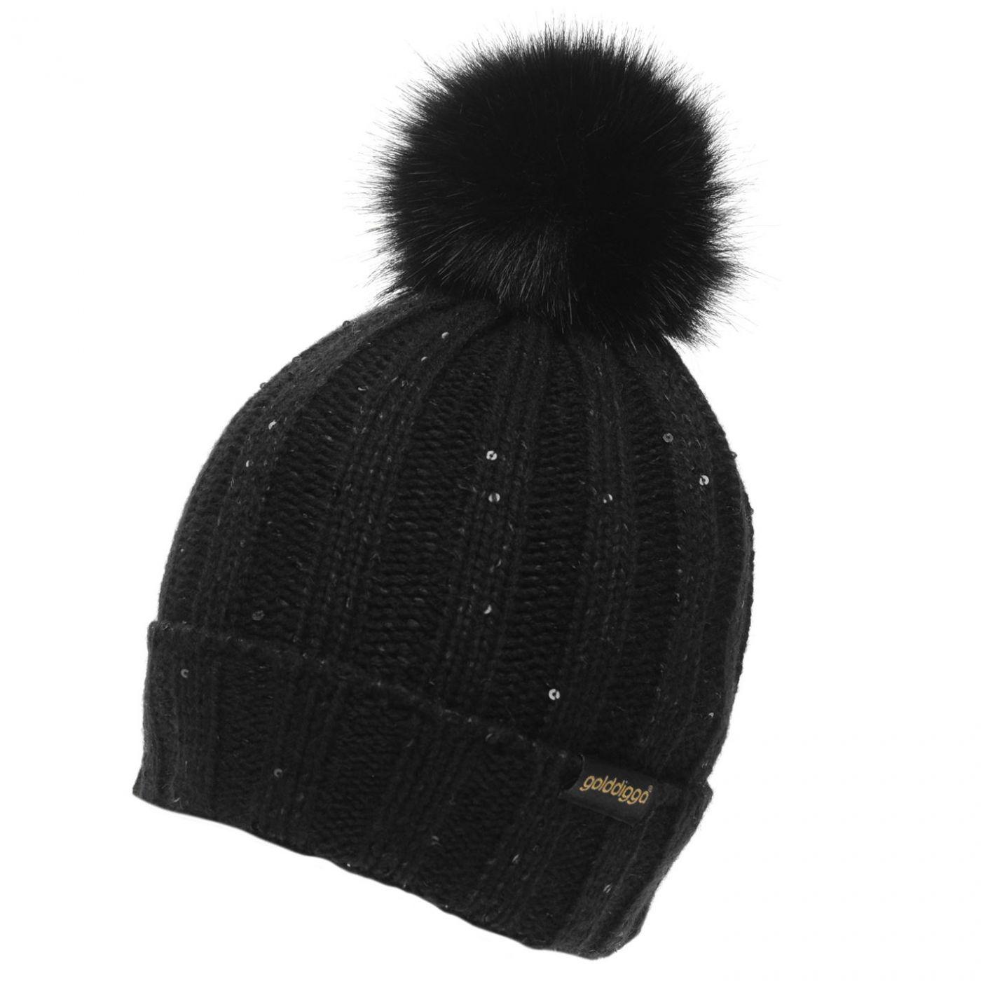 Golddigga Sparkling Beanie Hat Ladies