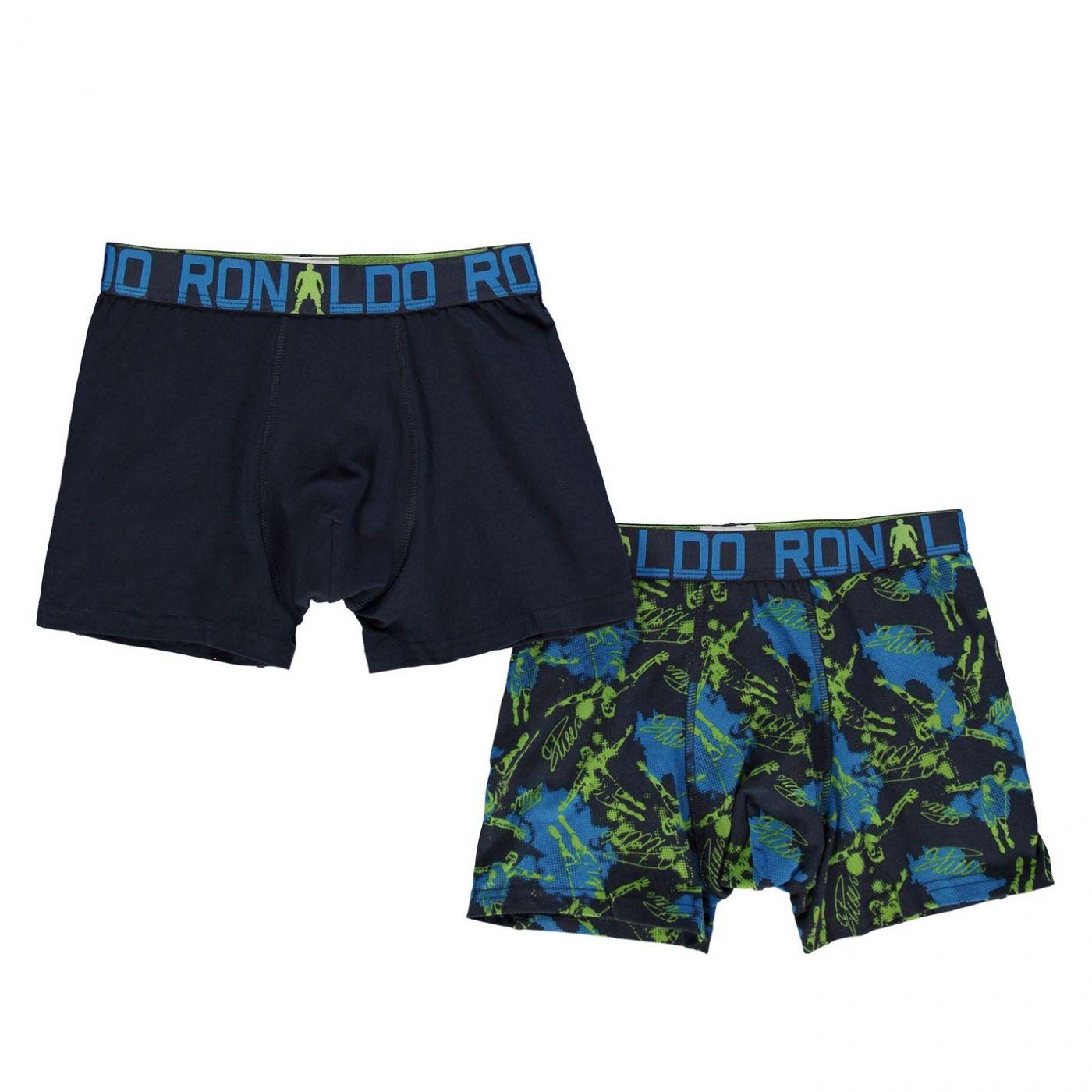 Cristiano Ronaldo 2 Pack Boxers Junior Boys