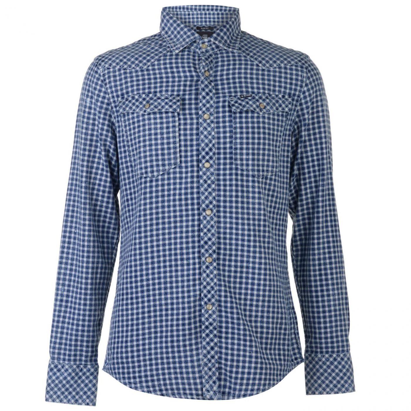 G Star 3301 Long Sleeve Check Shirt