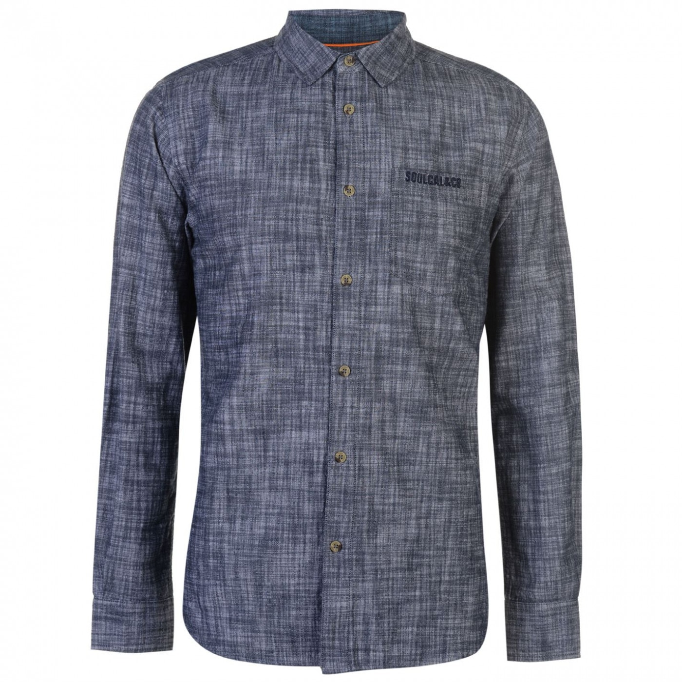 SoulCal Long Sleeve Denim Shirt Mens