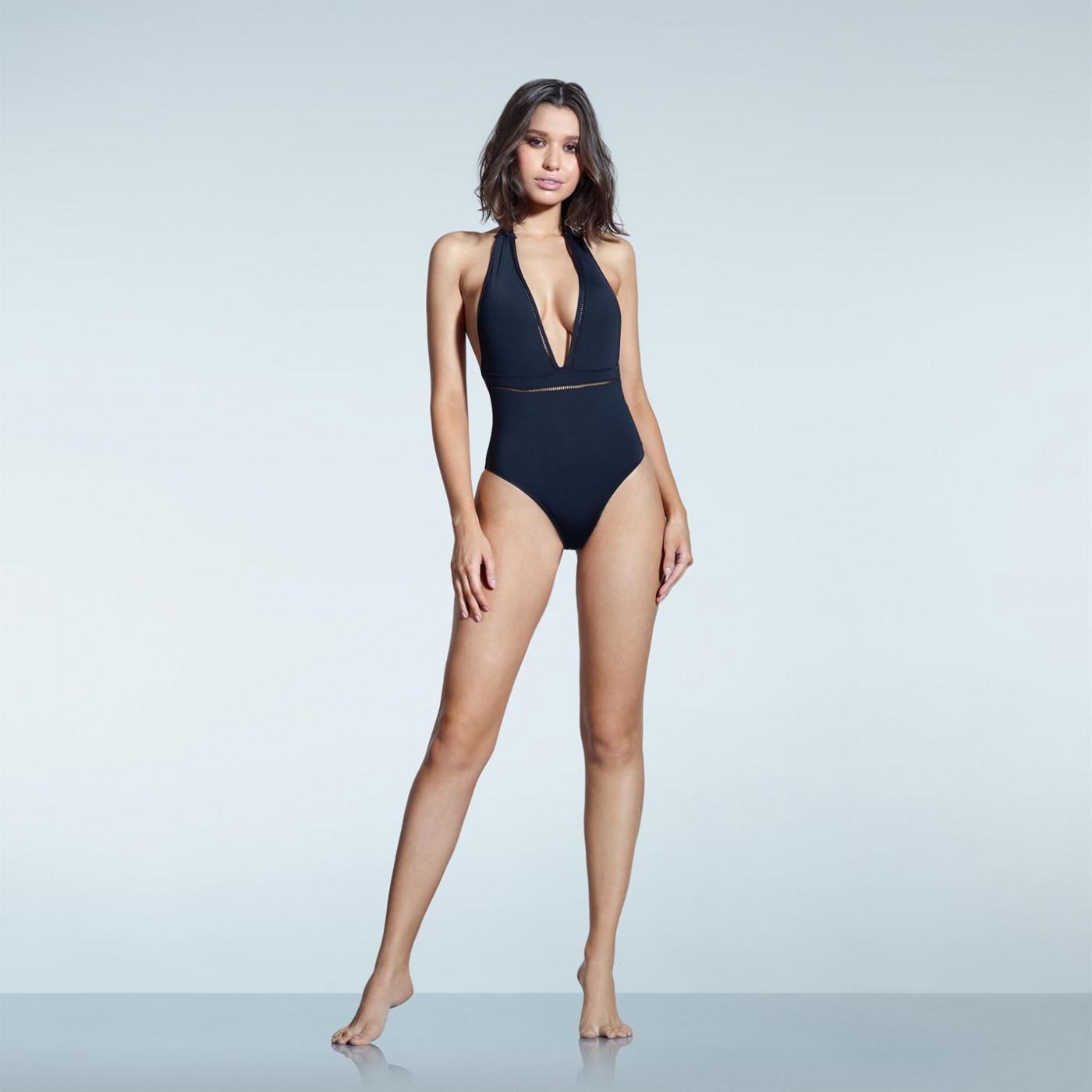 Firetrap Plunge Trim Swimsuit Ladies