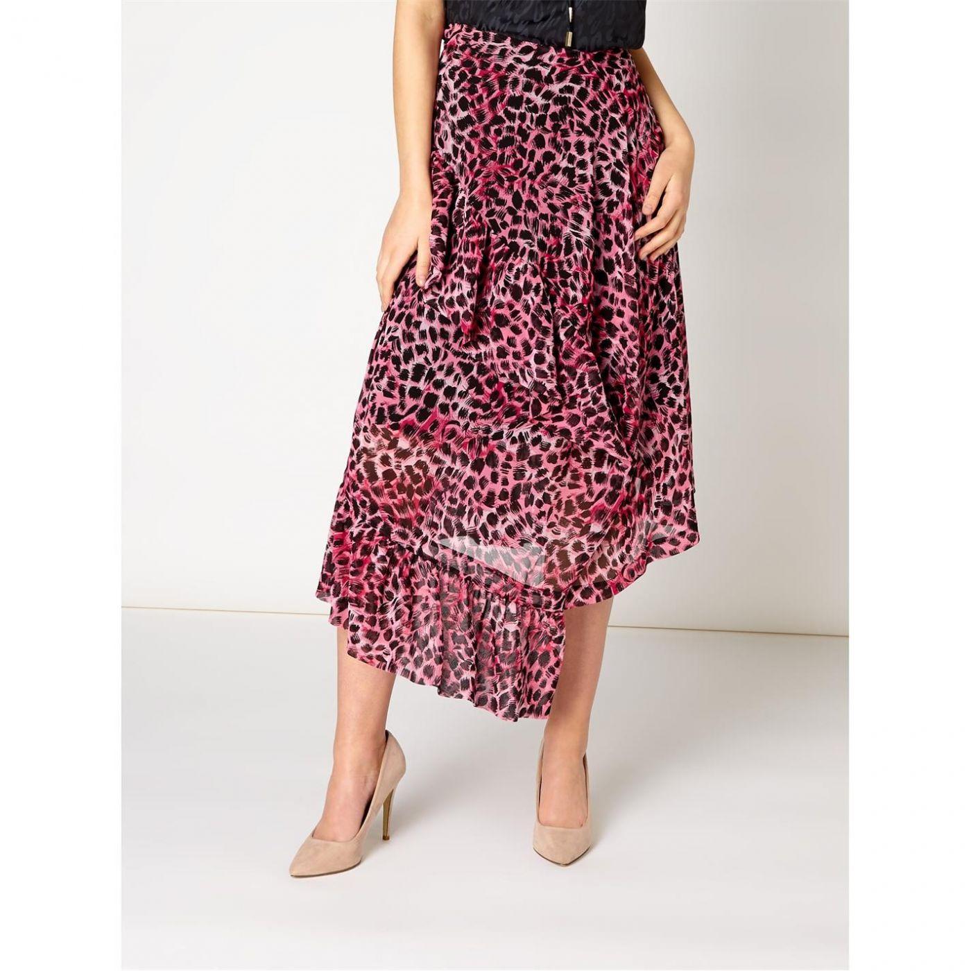 Biba Leopard Ruffle Skirt
