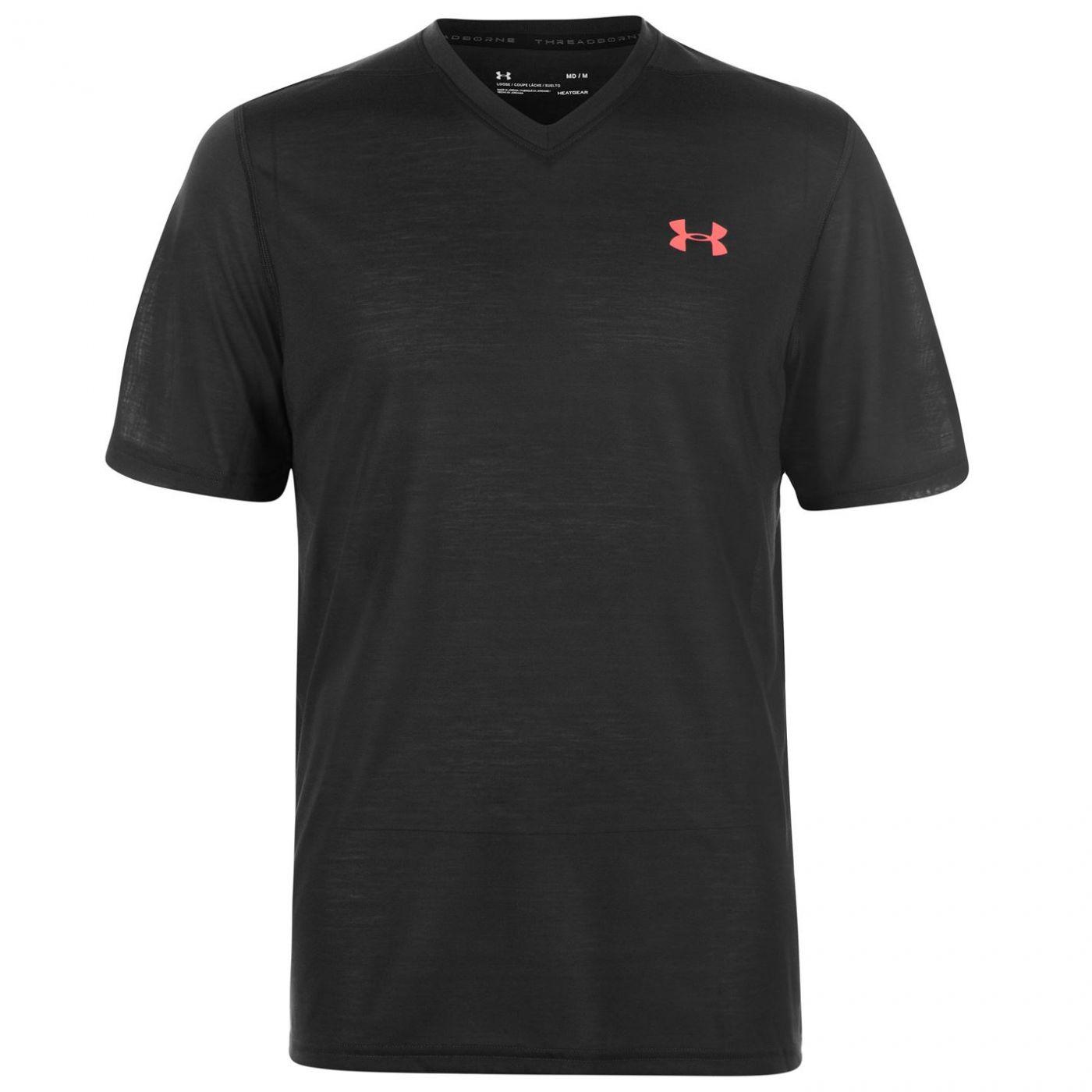 Under Armour Threadborne V Neck T Shirt T Shirt Mens
