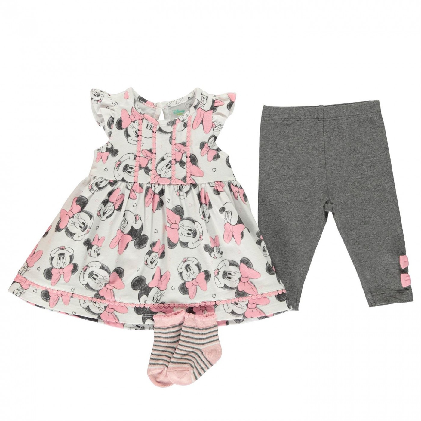 Character 3 Piece Dress Set Baby Girls