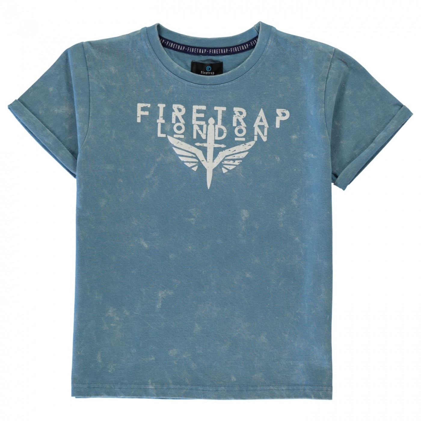 Firetrap Acid Wash T Shirt Junior Boys