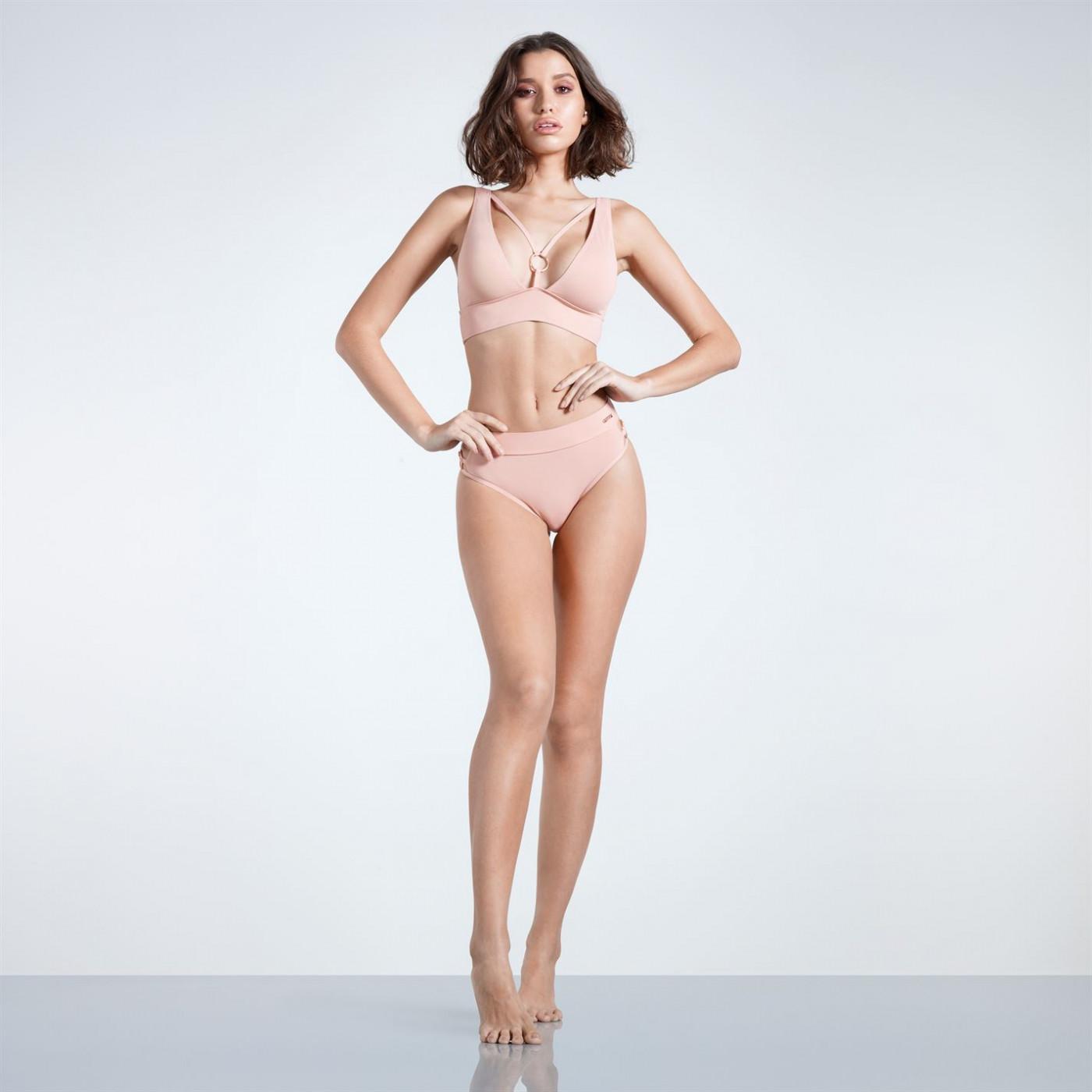 Firetrap Blackseal Plunge Bikini Bottoms