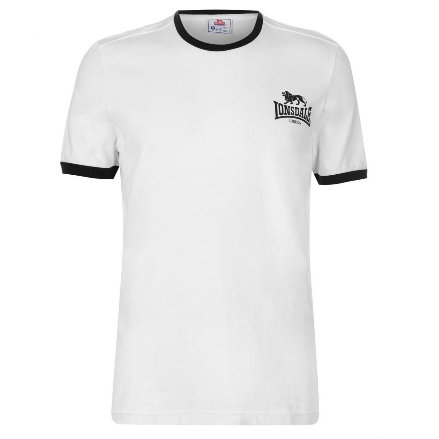 Lonsdale Ringer T Shirt Mens