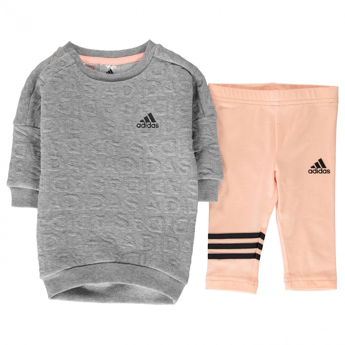 Adidas Sweater Dress Set Baby Girls