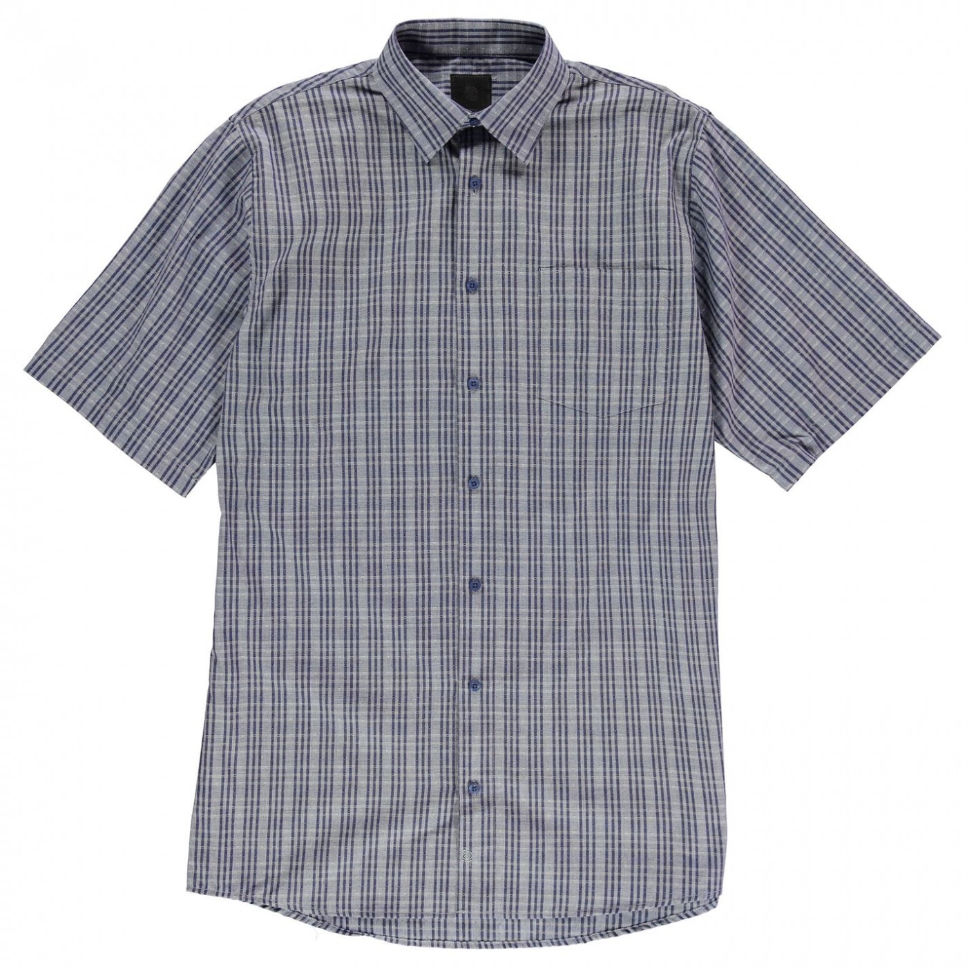 Fusion Textured Dobie Overplaid Shirt Mens
