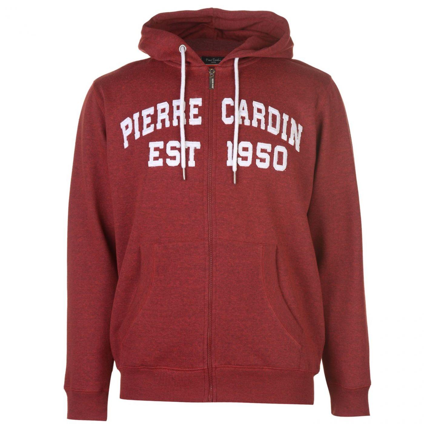 Pierre Cardin Applique Zip Hoodie Mens