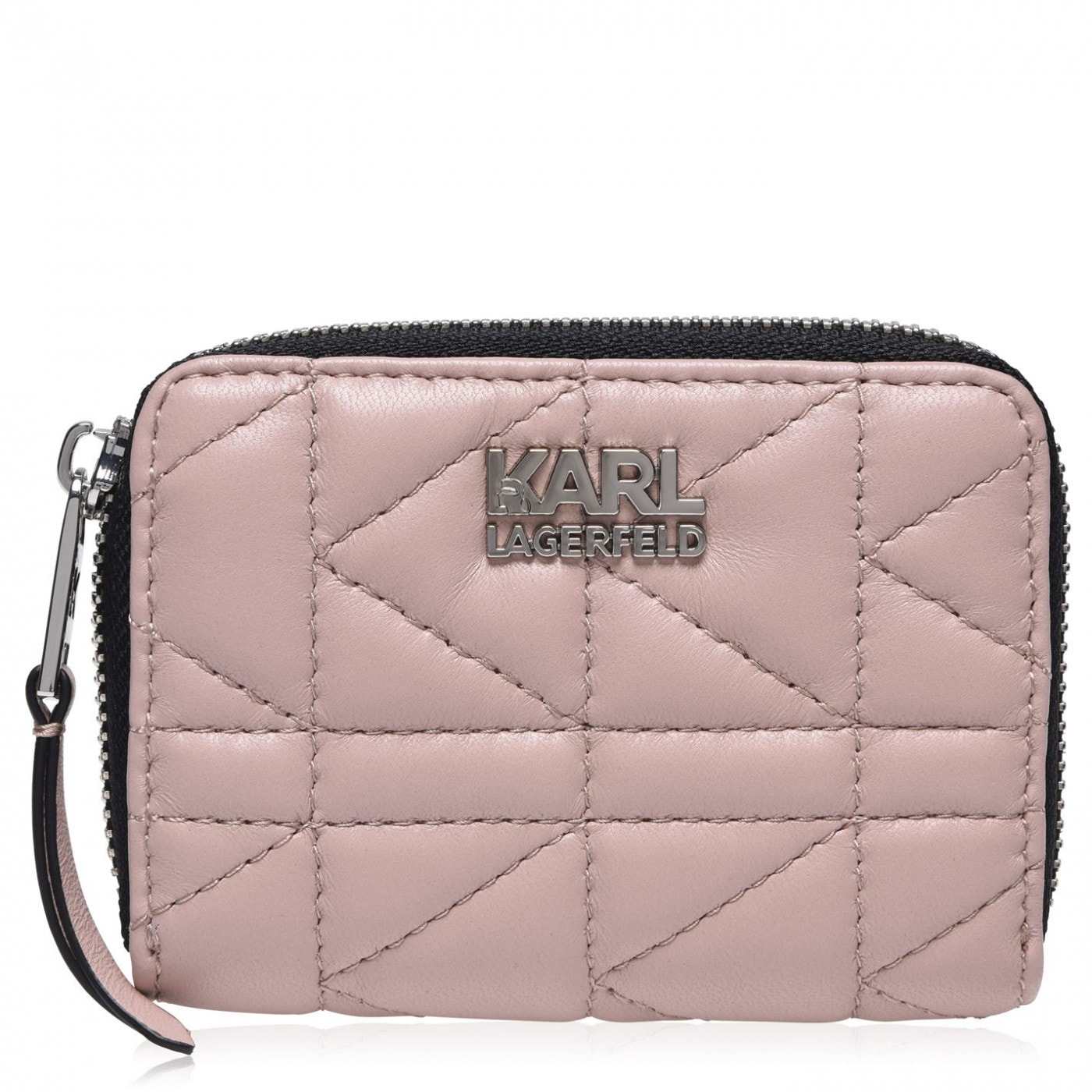 Karl Lagerfeld Kuilted Small Zip Around Purse