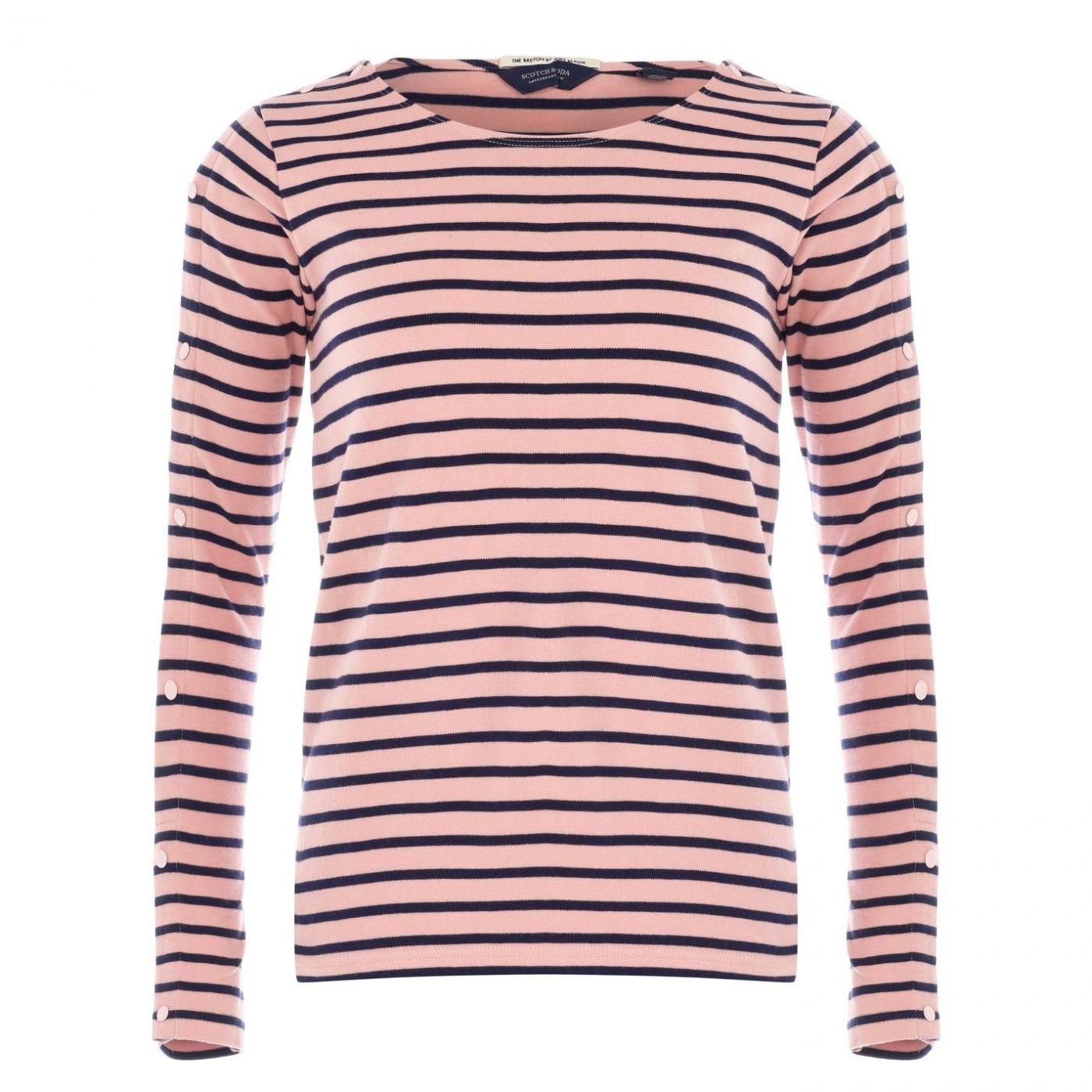 Scotch and Soda Breton Stripe T Shirt Womens