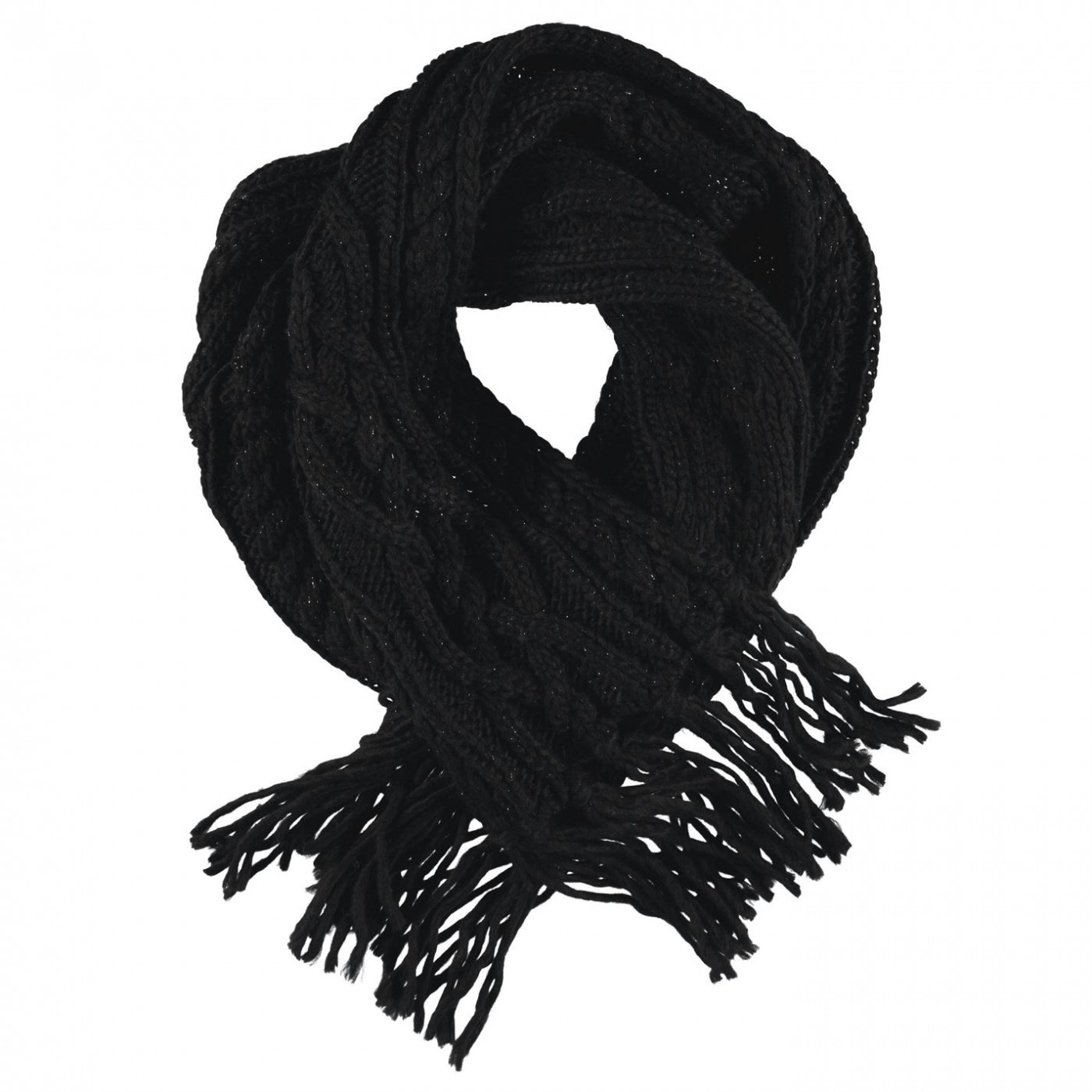 Golddigga Cable Knit Scarf Ladies