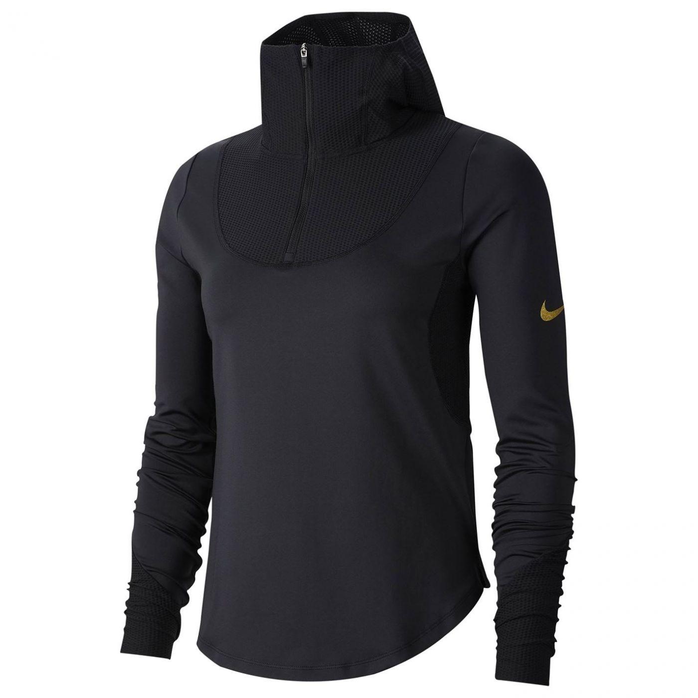 Nike Glam Long Sleeve Zip Top Ladies